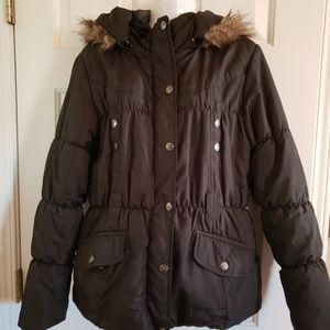 Dollhouse 3/4 Jacket faux fur hooded puffer coat